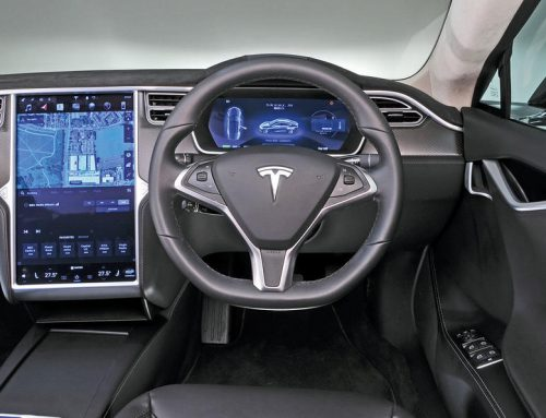 2017 Tesla Model S P100D menu and interior
