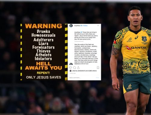 Homophobe, Israel Folau, falls in Fair Work Commission.