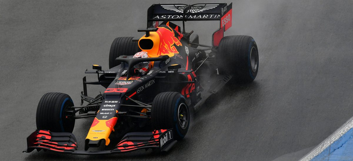 Max Verstappen in Rain in Germany
