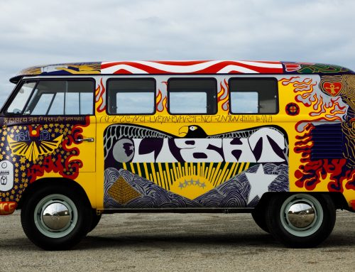 VW Woodstock Bus looks cool with history to match